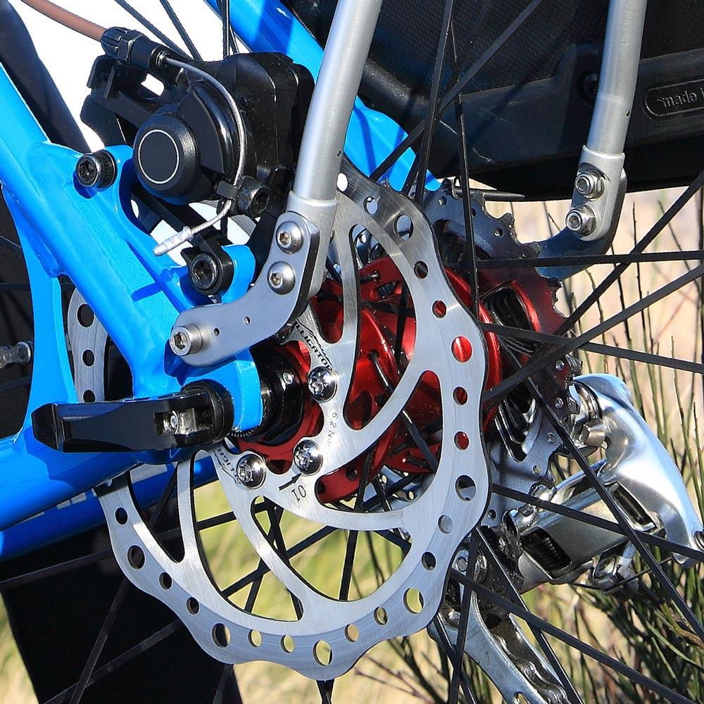 Bagagedrager voor fiets schijfrem
