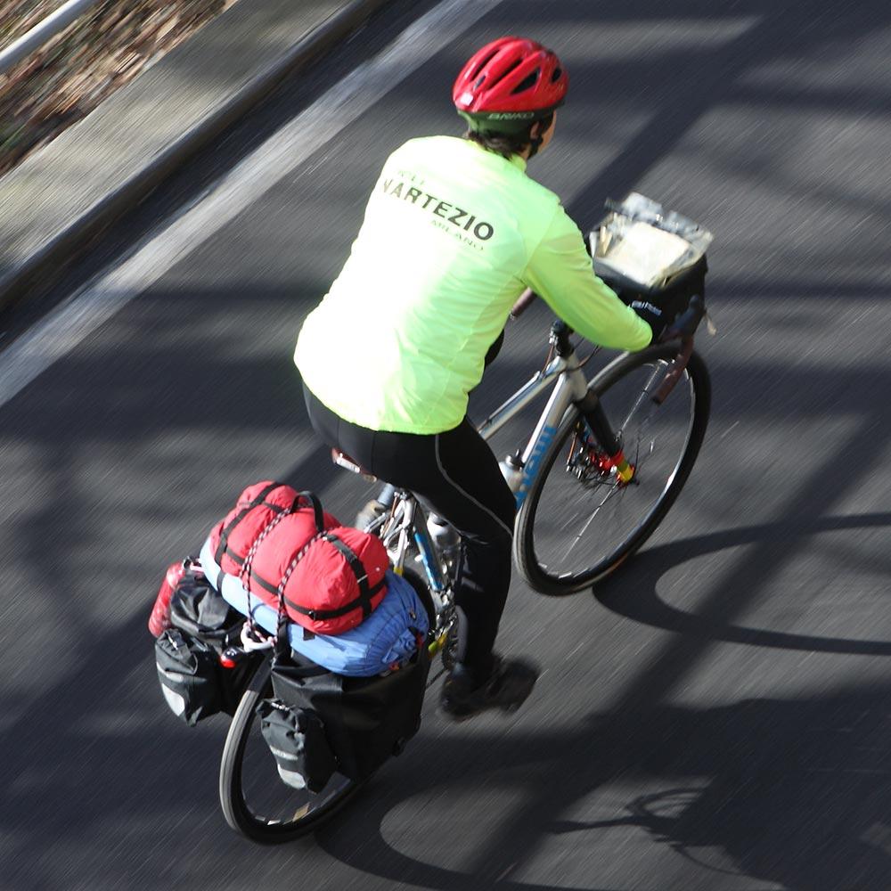 Bagagedrager voor reizen fiets fietstassen Ortlieb