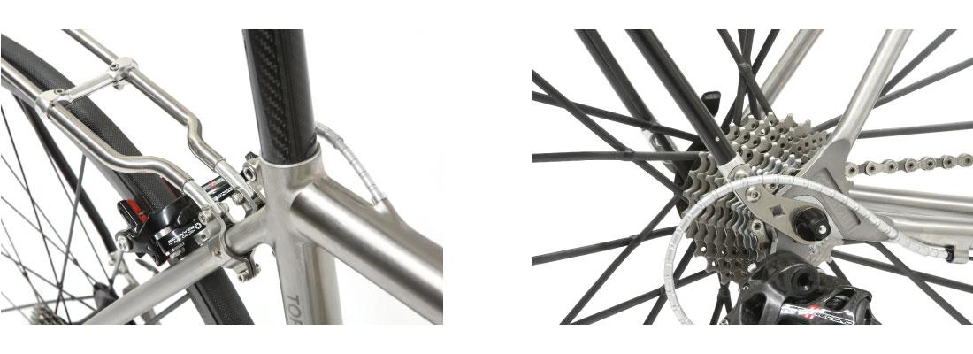 Portapacchi posteriore BAC Rack-RH sgancio rapido bici da corsa